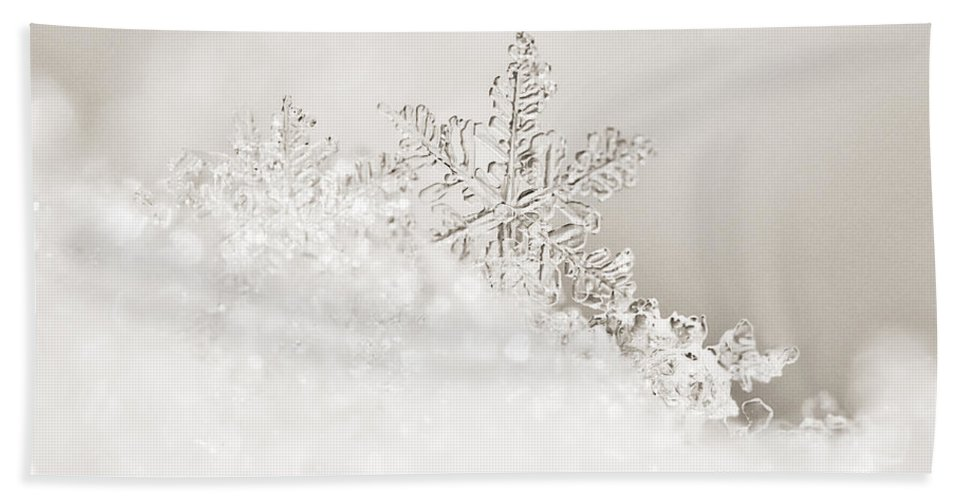 2011 Beach Towel featuring the photograph White Snowflake by Beth Riser