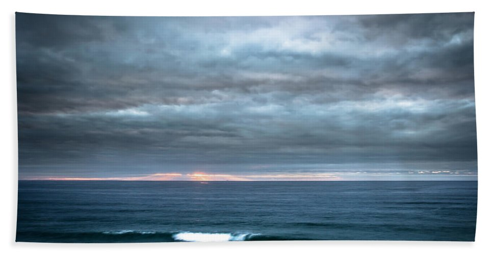 Sunset Beach Towel featuring the photograph White Track by Edgar Laureano