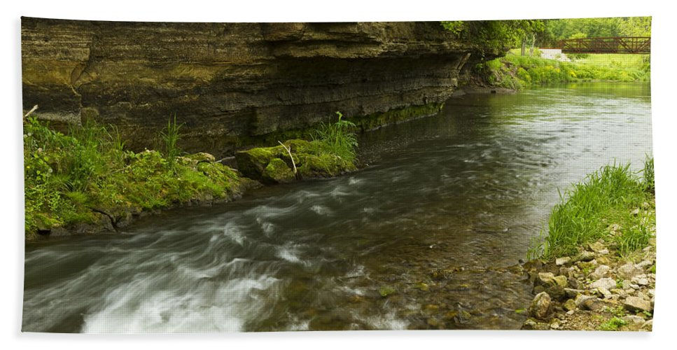 Rock Beach Towel featuring the photograph Whitewater River Spring 6 by John Brueske