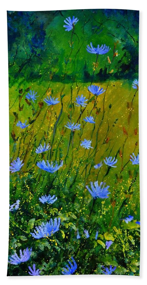 Floral Beach Towel featuring the painting Wild Flowers 911 by Pol Ledent