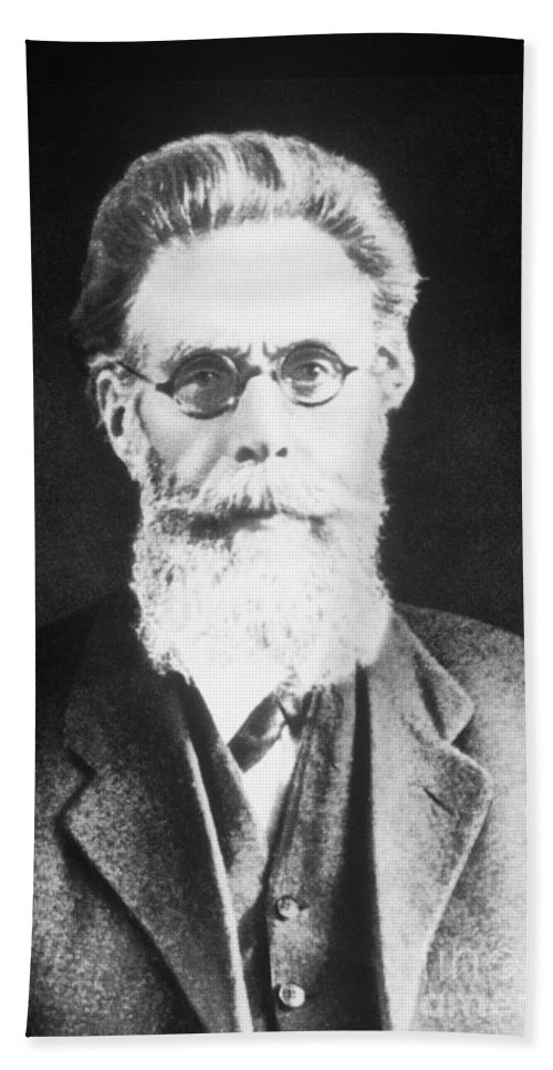 History Beach Towel featuring the photograph Wilhelm Roentgen, German Physicist by Science Source