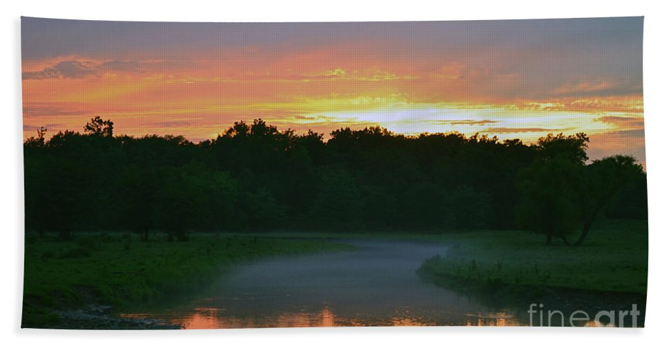Color Photography Beach Towel featuring the photograph Winding Down by Sue Stefanowicz