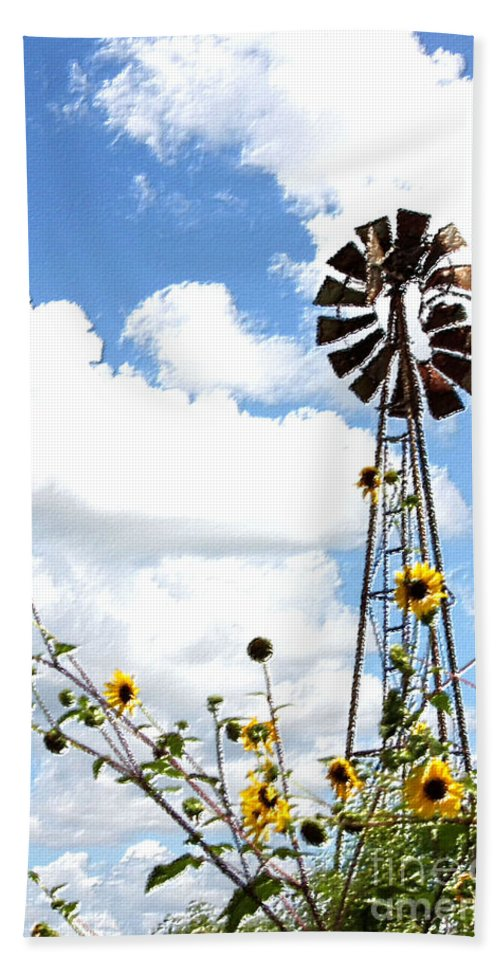 Windmill Beach Towel featuring the photograph Windmill Dabble 2a by Amber Stubbs