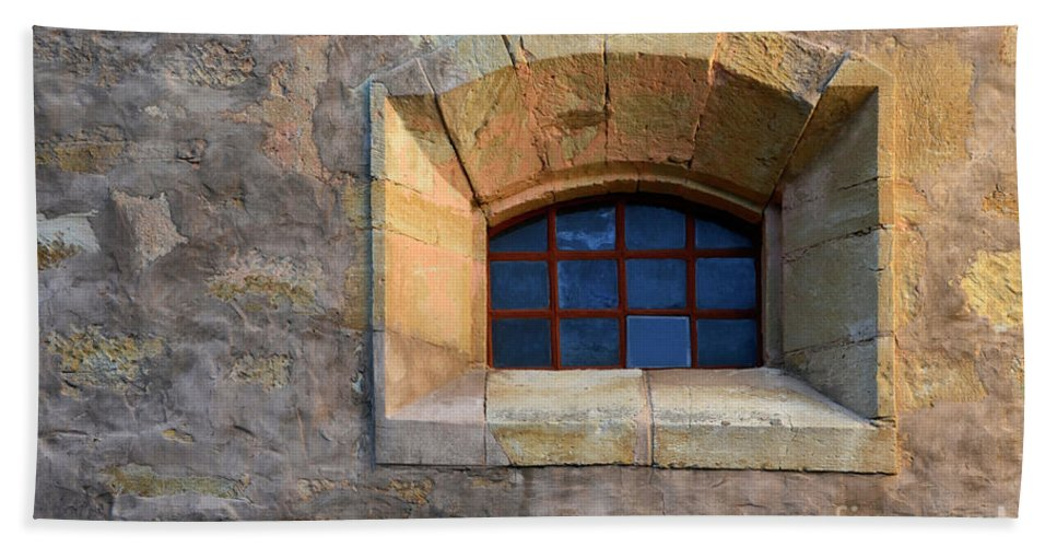 Coast Beach Towel featuring the photograph Window Detail At Carmel by Bob Christopher
