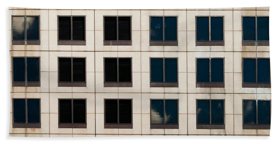 Abstract Beach Towel featuring the photograph Window Washer by Sean Wray