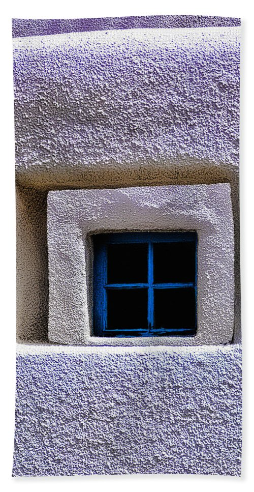 Window Beach Towel featuring the photograph Windows Of Taos by Terry Fiala