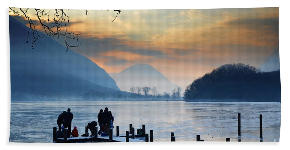 Frost Beach Towel featuring the photograph Winter Lake by Mats Silvan