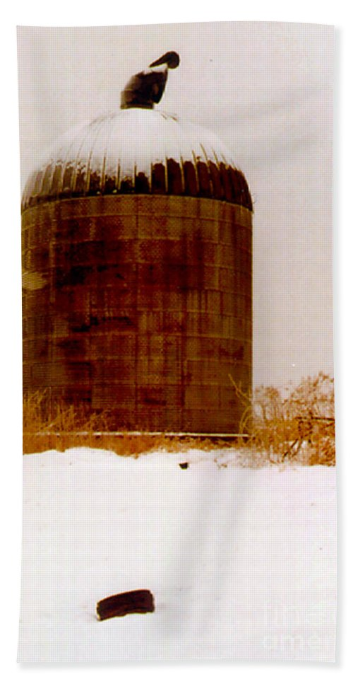 Agricultural Beach Towel featuring the photograph Winter Rust by Alan Look