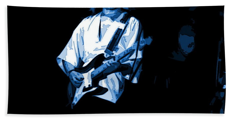 Tommy Bolin Beach Towel featuring the photograph Winterland Grind 2 Blue by Ben Upham