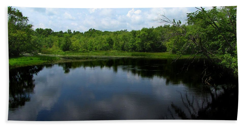 River Beach Towel featuring the photograph Wisconsin's Potato Rapids River by Ms Judi