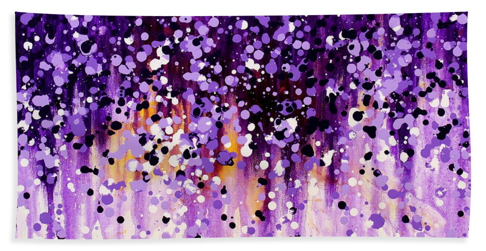 Floral Beach Towel featuring the painting Wisteria by Kume Bryant