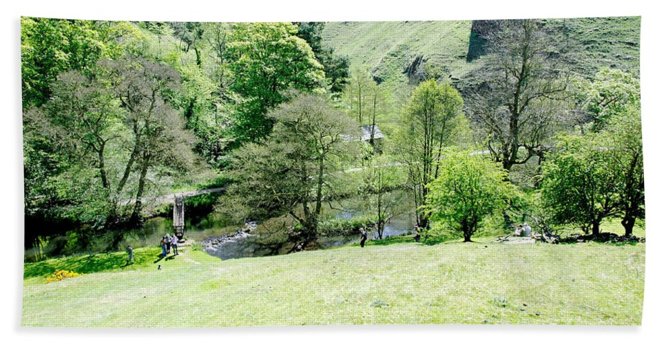 Countryside Beach Towel featuring the photograph Wolfscote Dale From Gipsy Bank by Rod Johnson