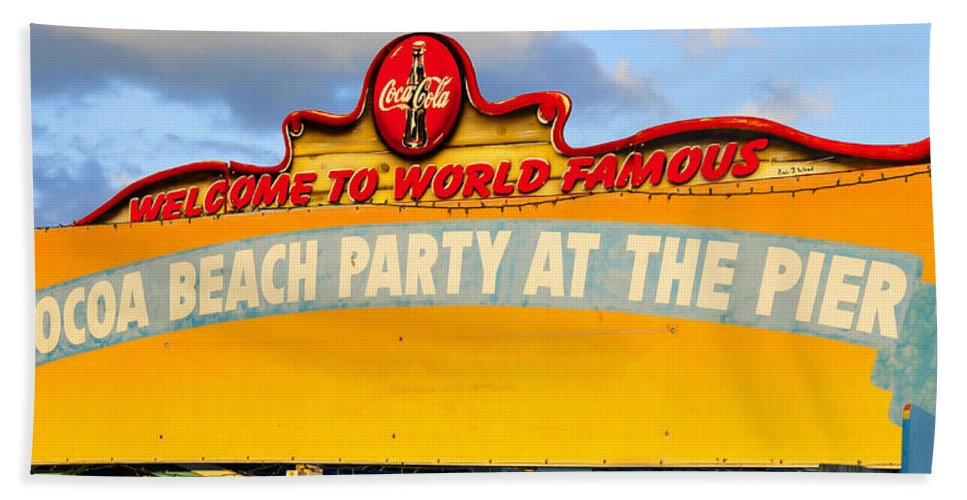 Fine Art Photography Beach Towel featuring the photograph World Famous Party by David Lee Thompson