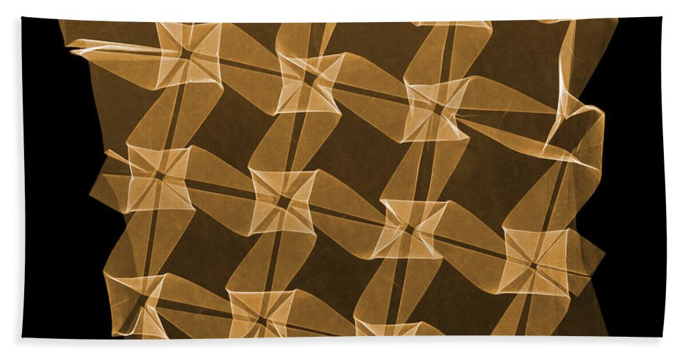 Origami Beach Towel featuring the photograph X-ray Of Mathematical Origami by Ted Kinsman