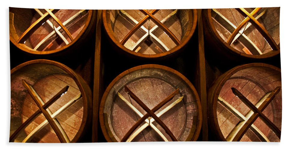 Wine Barrels Beach Towel featuring the photograph Xoxo by Christine Stonebridge