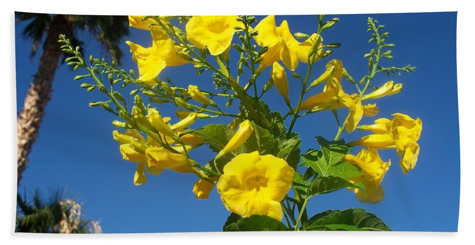 Flowers Beach Towel featuring the photograph Yellow Bells by Jonathan Barnes