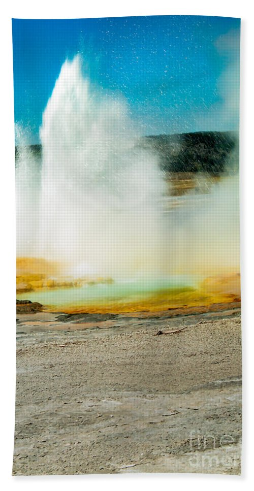 Paint Pots Beach Towel featuring the photograph Yellowstone Geysers by Robert Bales