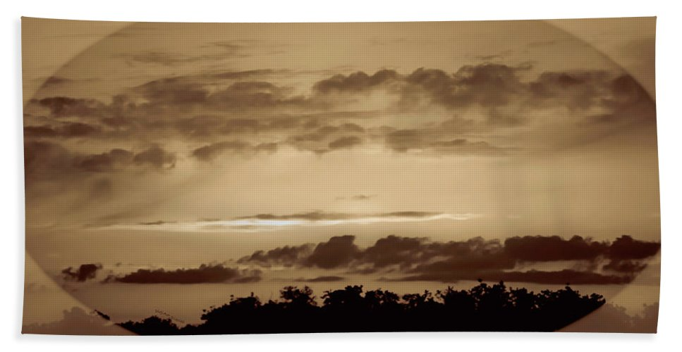 Sunset Beach Towel featuring the photograph Yesteryears Sunset by DigiArt Diaries by Vicky B Fuller