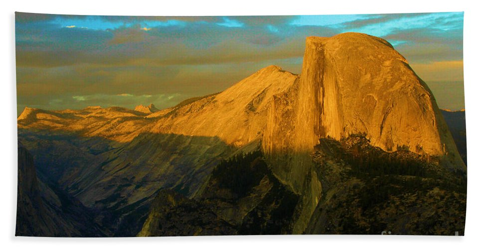 Half Dome Beach Towel featuring the photograph Yosemite Golden Dome by Adam Jewell