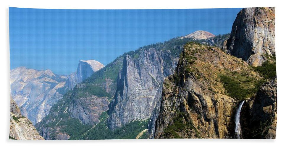 Yosemite National Park Beach Towel featuring the photograph Yosemite Valley by Adam Jewell
