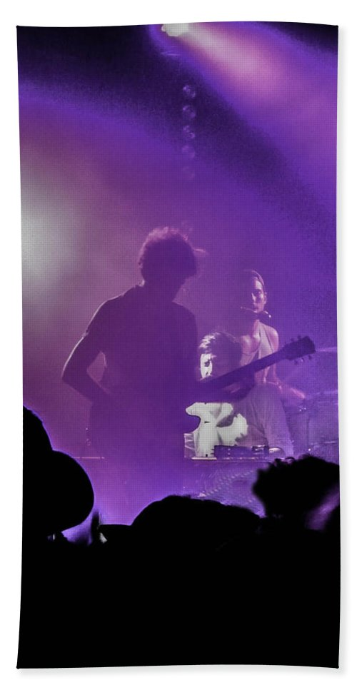 Austin Beach Towel featuring the photograph Young The Giant At Stubbs. by Josh Scanlon