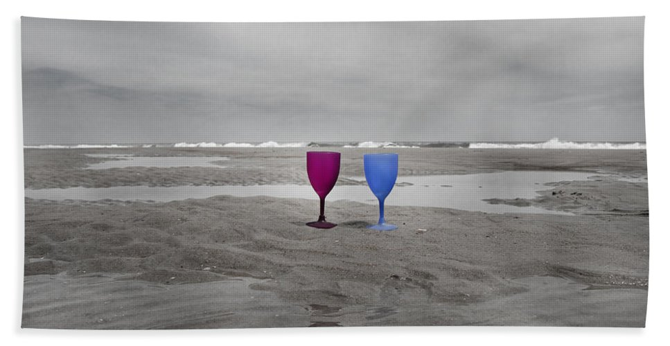 Topsail Beach Towel featuring the photograph Your Wine Is Waiting by Betsy Knapp