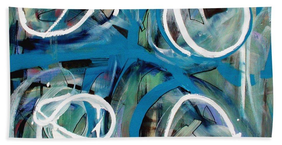 Modern Beach Towel featuring the painting Zen Quadrant by Lynne Taetzsch