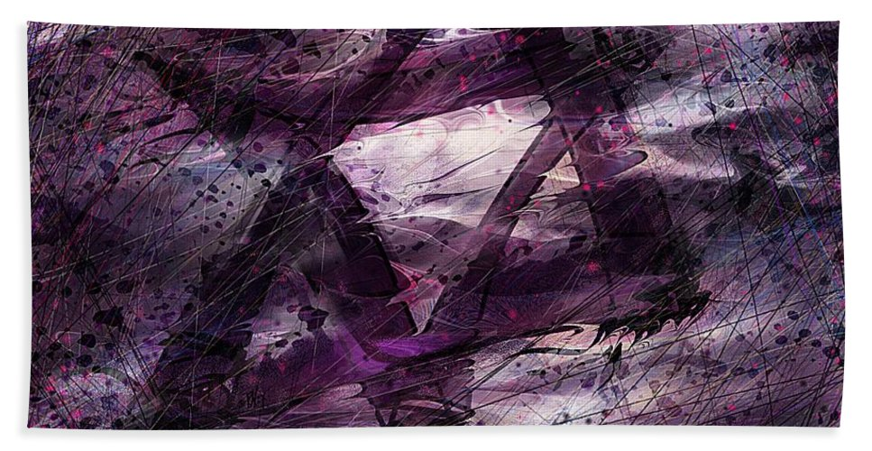 Abstract Beach Towel featuring the digital art . . . When We Remembered Zion by Rachel Christine Nowicki