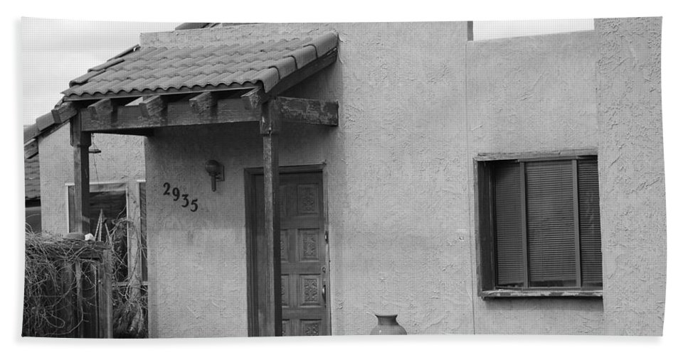 Architecture Beach Towel featuring the photograph Adobe House by Rob Hans