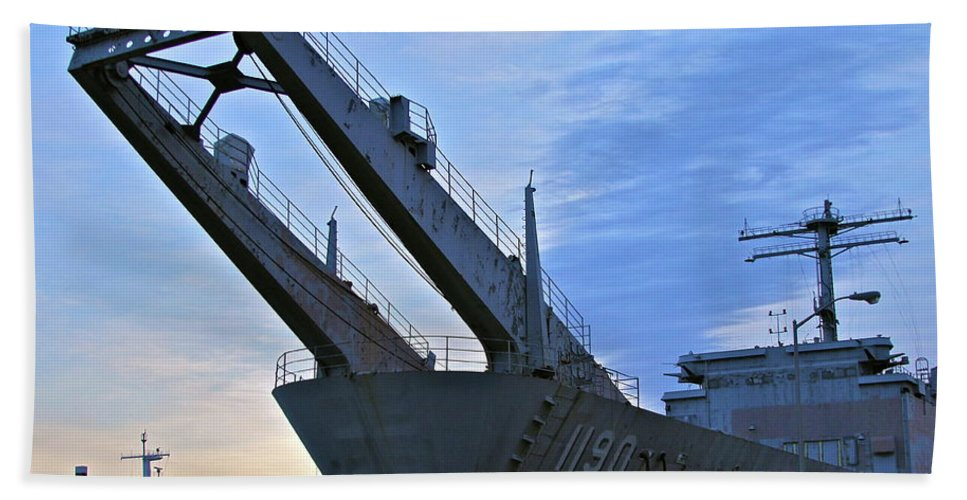 Ship Beach Towel featuring the photograph T by Rick Monyahan
