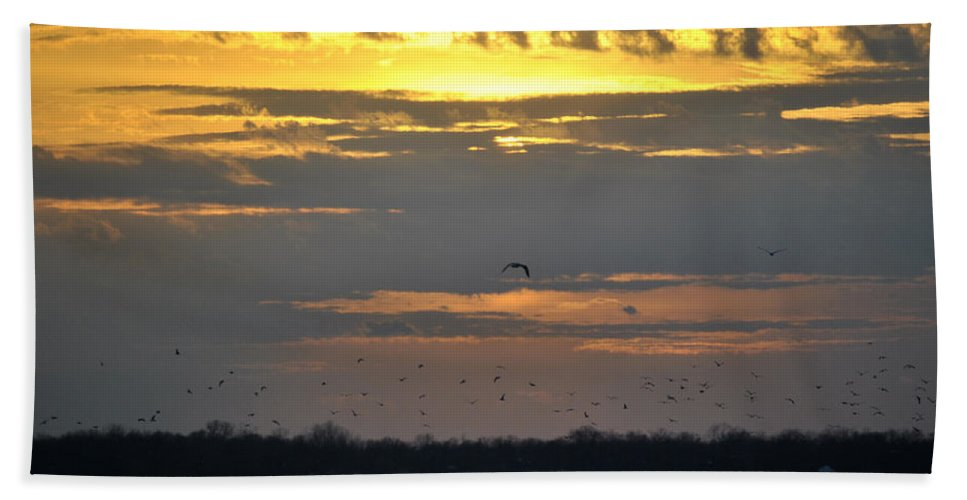 Buffalo Beach Towel featuring the photograph 019 April Sunsets by Michael Frank Jr
