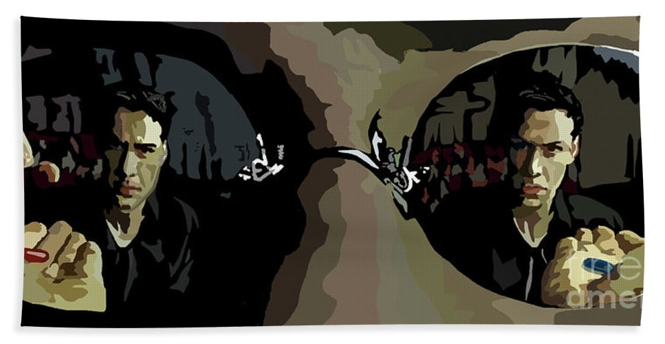 Tamify Beach Towel featuring the painting 022. How Deep by Tam Hazlewood