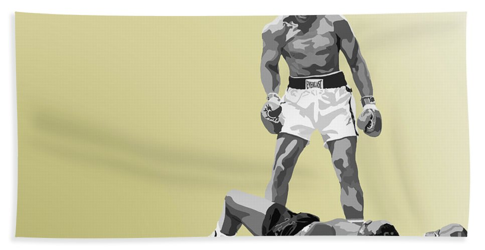 Tamify Beach Towel featuring the painting 059. Float Like A Butterfly by Tam Hazlewood