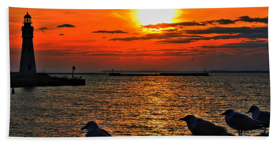 Beach Towel featuring the photograph 06 Sunset Series by Michael Frank Jr