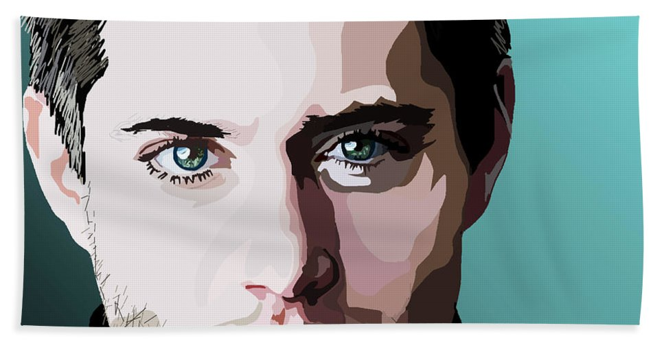 Beach Towel featuring the digital art 076. I Double Dare You by Tam Hazlewood