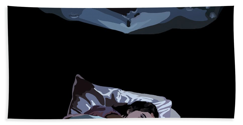 Beach Towel featuring the digital art 080. Sweet Dreams by Tam Hazlewood