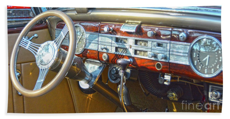 1937 Packard Convertible Coupe Roaster With Rumble Seat Dashboard Beach  Towel