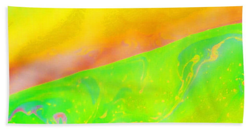 Abstract Beach Towel featuring the photograph Abstract Colours by Paul Cullen