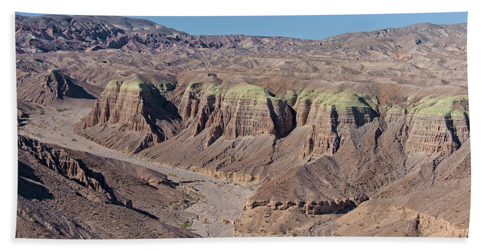 Aerial Shots Beach Towel featuring the photograph Afton Canyon by Jim Thompson