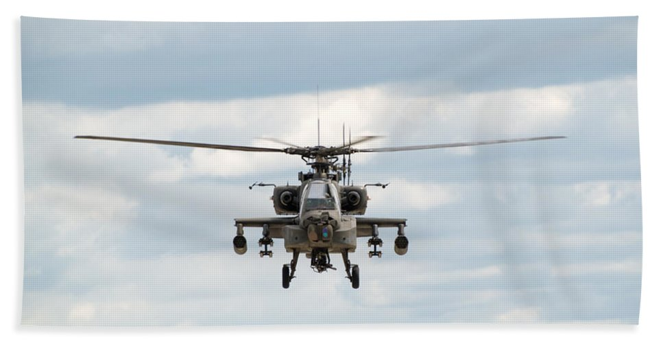 Helicopter Beach Towel featuring the photograph Ah-64 Apache by Sebastian Musial