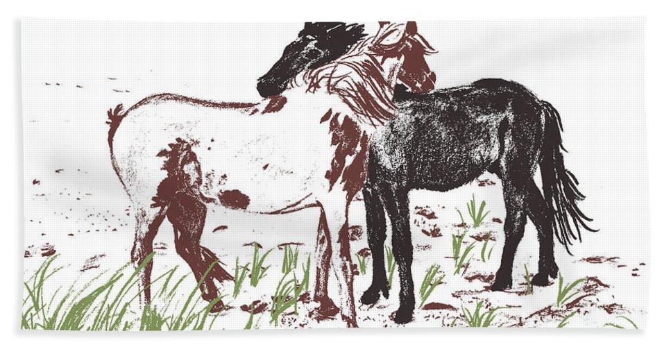 Horse Beach Sheet featuring the photograph Assateague Wind by JAMART Photography