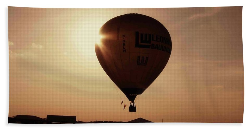 Hot Air Balloon Beach Towel featuring the photograph Balloon by Ilaria Andreucci