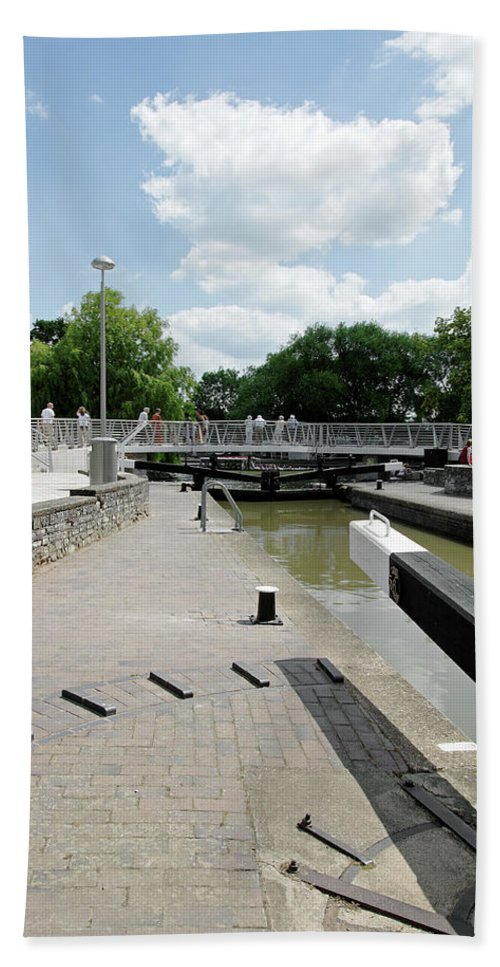 Europe Beach Towel featuring the photograph Bancroft Basin - Canal Lock by Rod Johnson