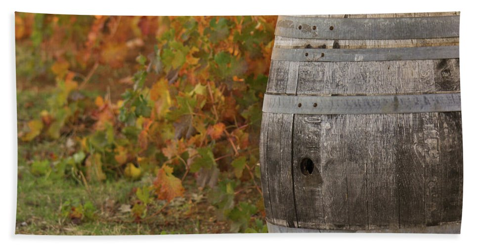 Beer Beach Towel featuring the photograph Barrel by Brandon Bourdages
