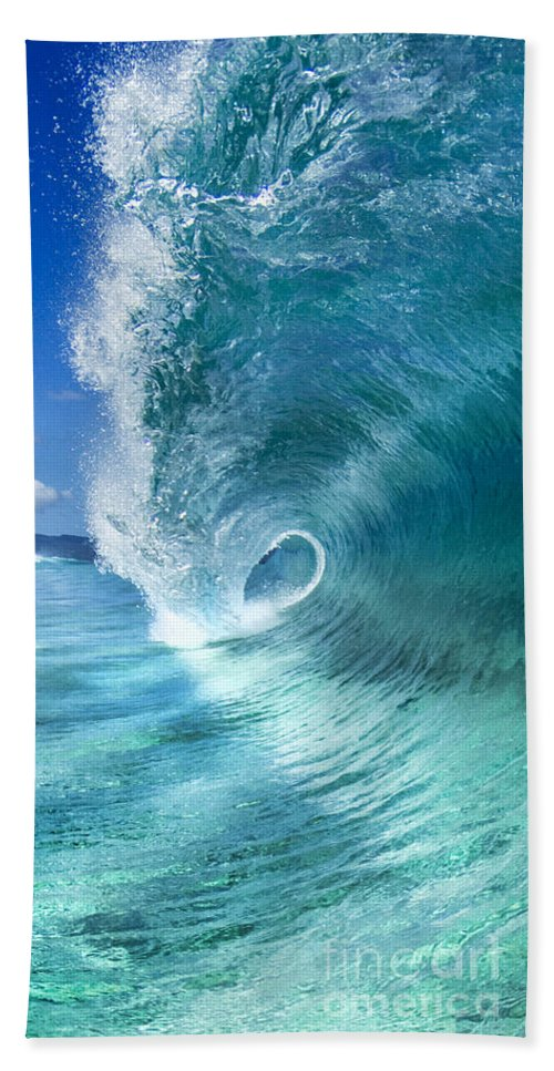 Wave Beach Towel featuring the photograph Barrel Swirl - Triptych Part 2 Of 3 by Sean Davey