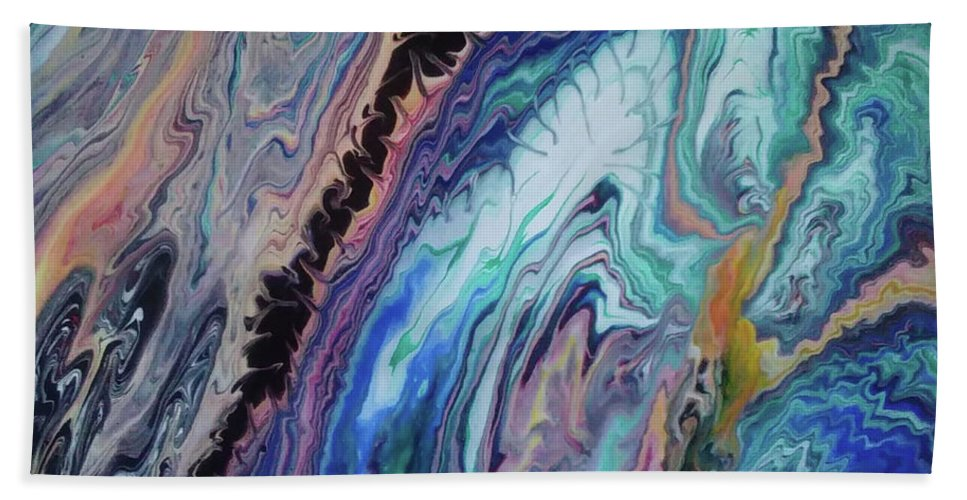 Original Acrylic Painting On Canvas 16x20 Beach Sheet featuring the painting Cosmic Reunion by Diana Robbins