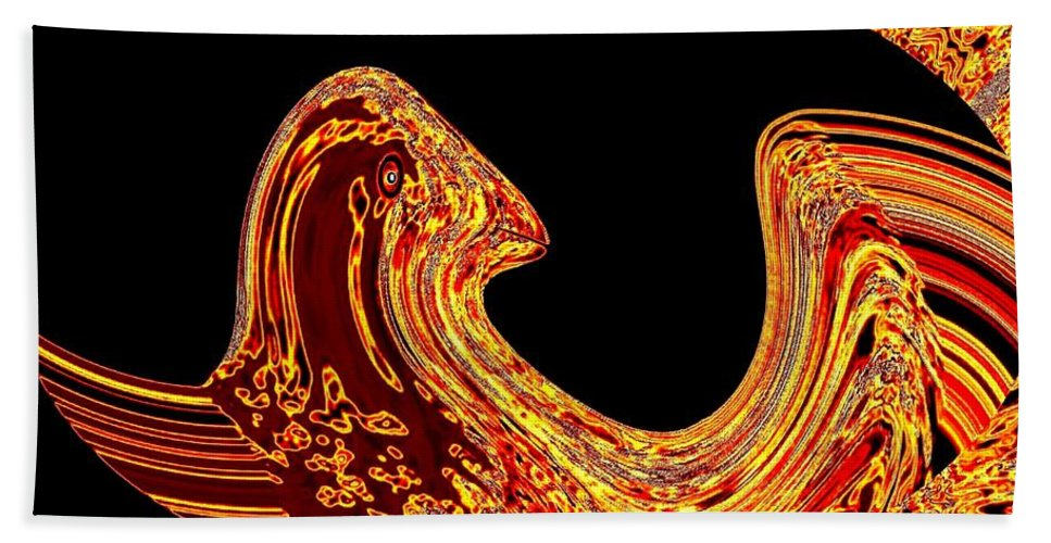 Golden Eagle Beach Towel featuring the digital art Birth Of A Golden Eagle by Will Borden