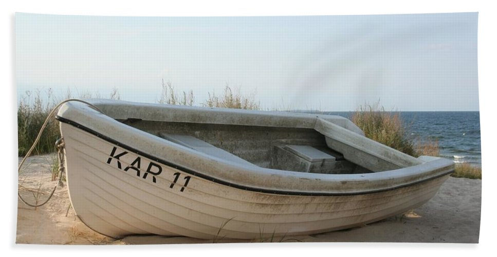 Ship Beach Towel featuring the photograph Boat by FL collection
