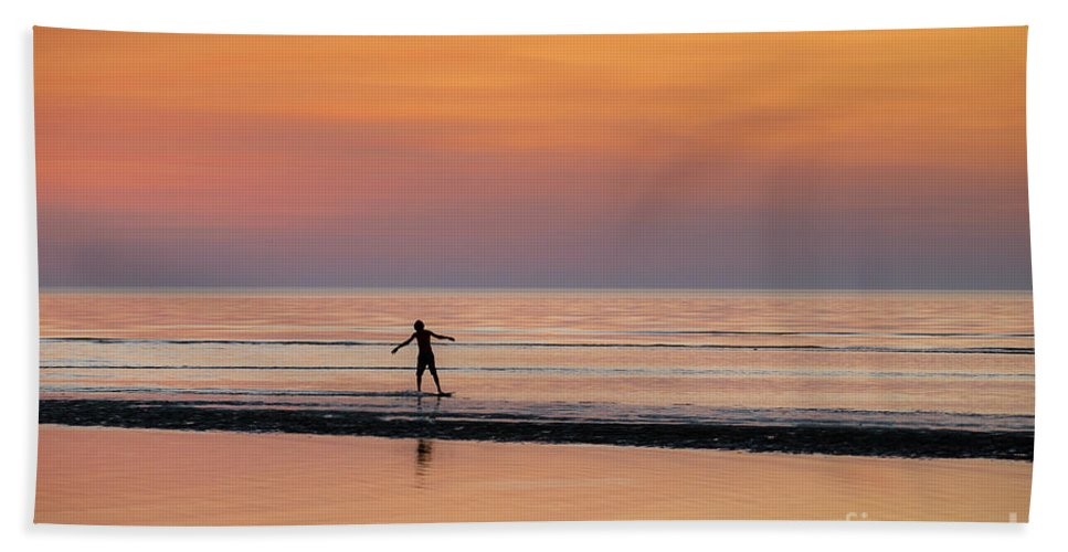 Cape Cod Beach Towel featuring the photograph Boogie Boarding by John Greim