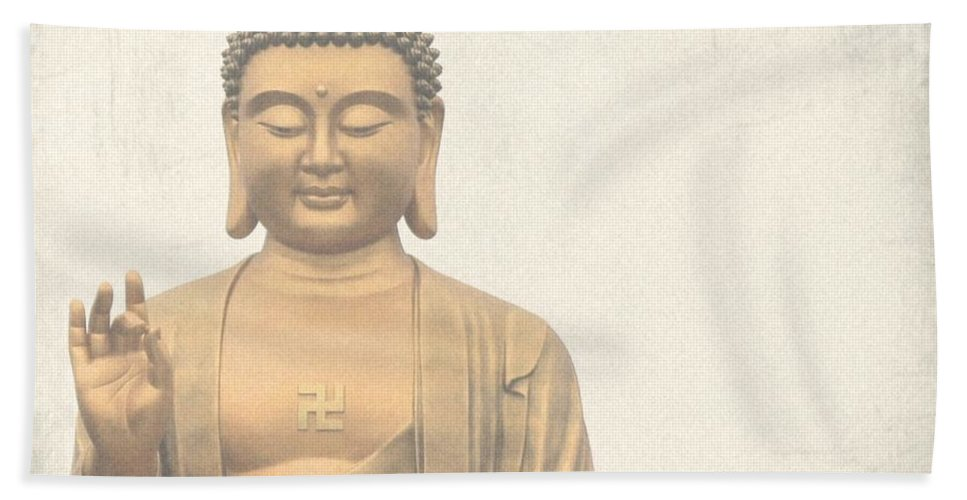 Buddha Beach Towel featuring the photograph Buddha by MingTa Li